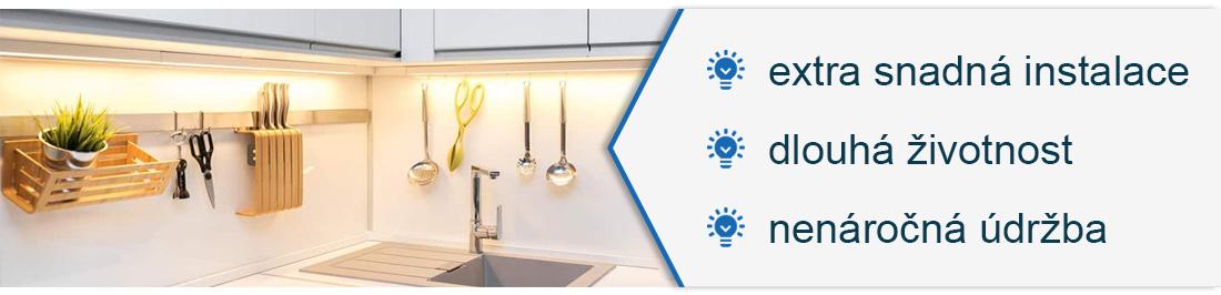 LED svítidla pod kuchyňskou linku