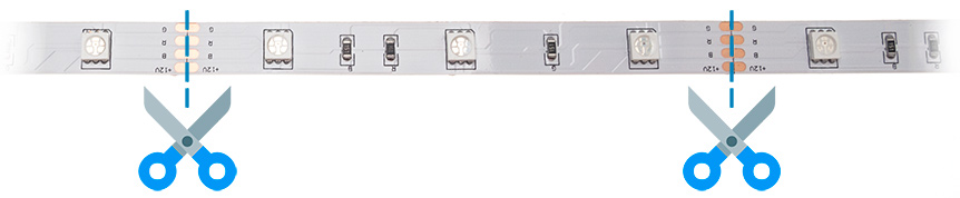 Dělení RGB LED pásku